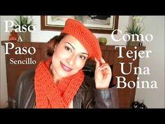 Boina a crochet paso a paso ¡TODAS LAS TALLAS! To knit cap - YouTube