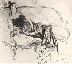 John Singer Sargent, Sketch for Madame X