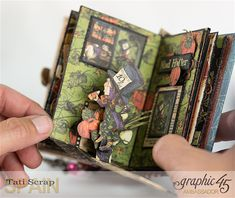 Hallowe'en in Wonderland - Deluxe Collector's Edition, Pop-Up Book by Tati Scrap. Product by Graphic 45