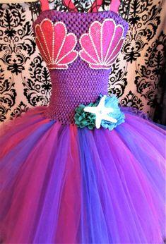 Fuchsia Mermaid Costume/Purple Mermaid Dress/Jewel Mermaid