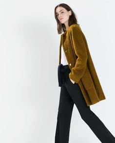 Image 3 of MOHAIR COAT WITH POCKETS from Zara