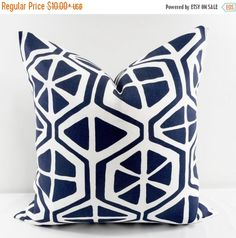 On Sale Indigo Pillow Cover. Aiden Vintage by TwistedBobbinDesigns