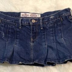"HOLLISTER Denim Blue Jean Skirt 30.5"" waist Blue Gorgeous and perfect with everything! Measures approx 30 1/2"" waist, 8 1/2"" length, 100% cotton. Hollister Skirts Mini"