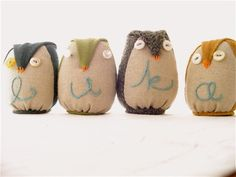 Adorable Owl Crafts Now who doesn't need a stuffed owl? :)