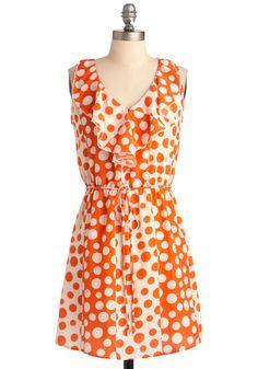 Dot You'd Never Ask Dress - perfect UT game day dress