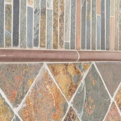 Jeffrey Court Satin Copper 11.5 in. x 12 in. x 8 mm Copper/Slate Mosaic Wall Tile-99612 - The Home Depot