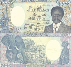 1,000 (1000) Francs Gabon's Banknote