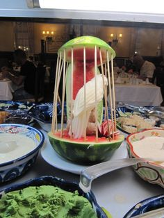 Food display for the Asian Night by wallygrom, via Flickr