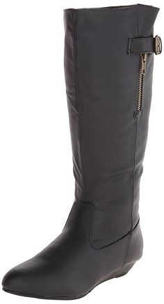 Qupid Women's Nesha 92 Riding Boot -- Review more details here : Knee high boots