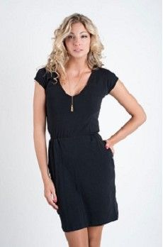 Black Casablanca Short Sleeve Dress by Many Belles Down