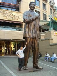 Huge statue of Nelson Mandela