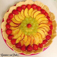 #crostata di #frutta appena fatta! Con pasta frolla senza burro ma con olio di semi di girasole! Buona, sana e golosa! #recipe #cake