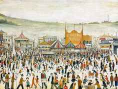lowry fun at the fair Daisy Nook original painting Laurence Stephen Lowry, R. Fun Fair at Daisy Nook signed and dated 'L. LOWRY (lower right) oil on canvas 28 x 36 in. Salford, Photo To Oil Painting, Tate Britain, Spencer, Daisy, Fun Fair, English Artists, Portraits, Urban Life