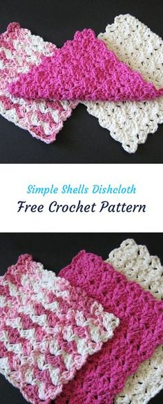 Simple Shells Dishcloth Free Crochet Pattern