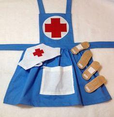 Girl's Nurse Costume child nurse dress up nurse by MollysCellar