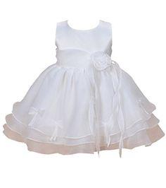 Robe de baptême bébé filles sans manche (3M, Ivoire Lilas)  Amazon.fr   Vêtements et accessoires 9b9f9ca745d