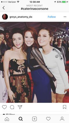 Caterina , Sarah and Camilla