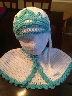 Capa y gorro de Elsa dé frozen en crochet Frozen Crochet, Crochet Baby, Elsa Frozen, Knits, Angels, Beanie, Magic, Knitting, Clothes
