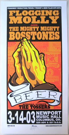 2003 Flogging Molly and Mighty Might Bosstones concert poster!