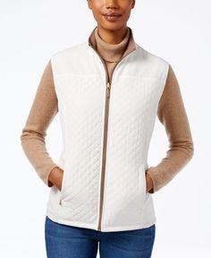 6c61d1257f727 Karen Scott Reversible Fleece Vest