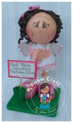 angel girl in pink by julissagarcia2 on Etsy, $18.95