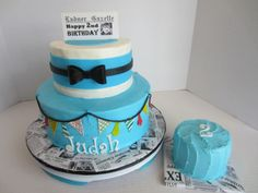 Little Man Birthday Cake - This is the other side of the cake for the other birthday boy.