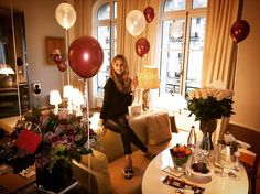 What a welcome! There's a reason @leroyalmonceau is my favorite hotel in Paris. Merci beaucoup for my birthday surprises! #LuckyGirl