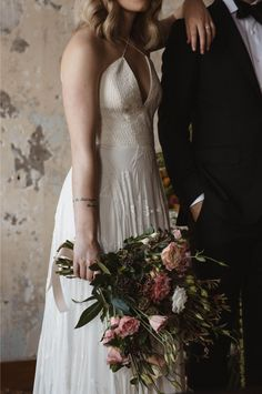 Libby wears Rue De Seine Bridal, florals by Alternative Wedding Dresses, Engagement Shoots, Boho Chic, Florals, Memories, Bridal, Couples, How To Wear, Fashion