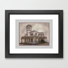 Bidwell Mansion Framed Art Print by David Lee Graphic Artist - $50.00