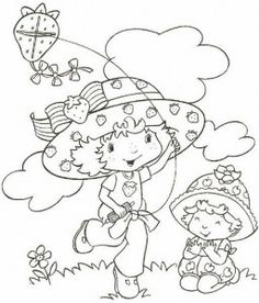 Strawberry Shortcake coloring pages Cry Baby Coloring Book, Coloring Pages For Girls, Coloring Book Pages, Coloring For Kids, Printable Coloring Pages, Free Coloring, Coloring Sheets, Adult Coloring, Melanie Martinez Coloring Book