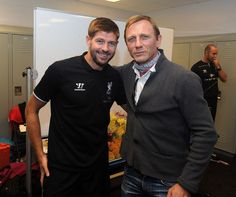 Liverpool find 007 replacement as Daniel Craig meets Steven Gerrard and co after friendly - Mirror Online Liverpool Fans, Liverpool Football Club, Liverpool History, Soccer Fans, Soccer Players, Tatouage Liverpool, Stevie G, France Football, Toronto Fc