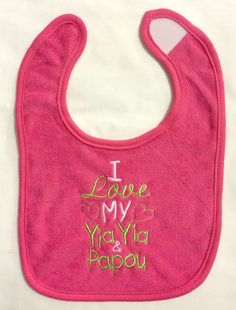 I love my Yia Yia & Papou custom embroidered by BoutiqfullyYours