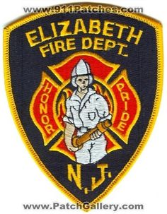 Elizabeth Fire Department Patch New Jersey NJ