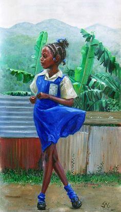 Sassy a la mode Black Girl Art, Black Women Art, Art Girl, African Artwork, African Paintings, Jamaican Art, Afrique Art, Haitian Art, Black Art Pictures