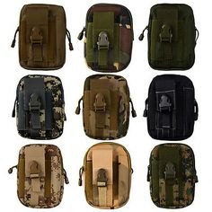 Outdoor Hiking Tactical Molle Waterproof Pouch Belt Bag For Sport Waist Pack BP