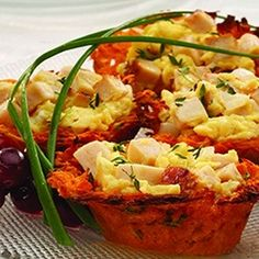 Chicken and Sweet Potato Egg Nests