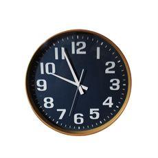 Blue Wooden Wall Clock 40cm-living-cravehome
