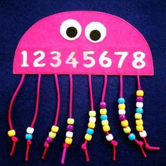 Fantastic Free of Charge preschool crafts math Style This great site provides SO MANY Kids crafts which are acceptable for Toddler along with Youngsters. I thought it was Kids Crafts, Daycare Crafts, Toddler Crafts, Preschool Crafts, Toddler Activities, Preschool Number Activities, Counting Activities, Numbers Preschool, Learning Numbers