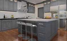 810f55e5b Shaker Kitchen Cabinets One of the most popular trends in kitchen design is  grey kitchen cabinets