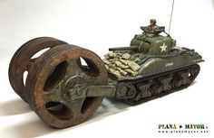 M4A1 Sherman T1E3 Roller, Ardennes, 1944. Cannon, Battle, Coding, Programming