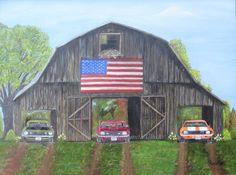 American Flag American Cars!