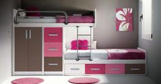 Consejos para Decorar un Cuarto Pequeño Kids Bedroom Furniture, Home Bedroom, Furniture Decor, Children Furniture, Sister Bedroom, Girls Bedroom, Dream House Interior, Home Interior Design, Princess Room
