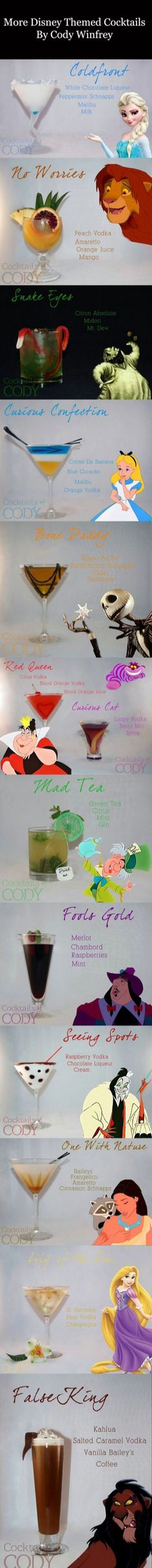 More Disney cocktails