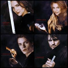 Rose, Lissa, Adrian and Dimitri - Vampire Academy