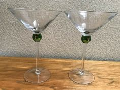 Martini Glasses GOLF Set 2 Hand Painted