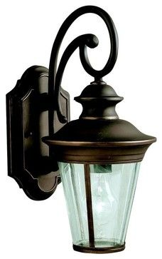 Kichler Eau Claire Outdoor Wall Mount Light Fixture in Olde Bronze traditional-outdoor-wall-lights-and-sconces