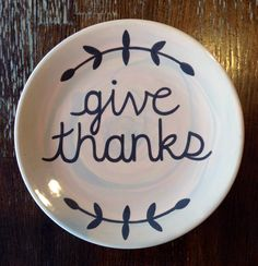 """Give Thanks"" Thanksgiving Plate 