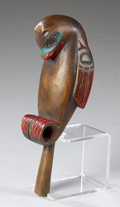 Northwest Coast Otter Rattle, 2004, American Indian Art Auction / Sept 18-19 Tlingit, ca 1950.