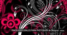 Pinceles florales para Photoshop #Brushes