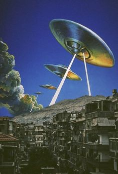 Damascus Under Siege -11/ دمشق تحت الحصار Surreal Mixed Media Collage Art By Ayham Jabr.
